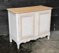 French 2 Door Painted Cabinet