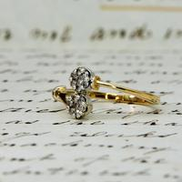 The Vintage Paired Flowers Fourteen Diamond Ring (3 of 6)
