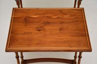 Antique Yew Wood Nest of 4 Tables (5 of 9)