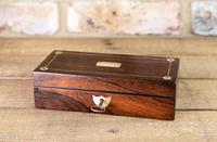 Rosewood & Mother of Pearl Desk Box 1830