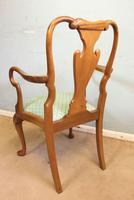 Set of Eight Queen Anne Style Walnut Dining Chairs (9 of 15)