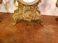 Lancini Franz Hermle clock with candelabras garnitures exactly like Imperial range (5 of 6)