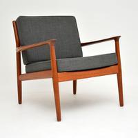 Pair of Danish Teak Vintage Armchairs by Grete Jalk (7 of 11)