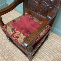 Quality Antique Oak Wainscot Chair (8 of 10)