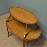 Quality Victorian Satinwood Two Tier Lamp Table (5 of 7)