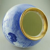 A Royal Doulton Art Pottery Flow Blue Blue Children Vase C.1912-30 (4 of 5)