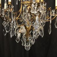 French Gilded Bronze Birdcage Crystal Chandelier (6 of 10)
