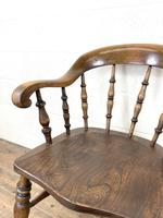 Antique 19th Century Smoker's Bow Chair (4 of 9)