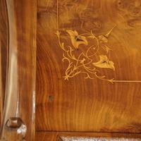Victorian Antique Inlaid Walnut Davenport (9 of 13)