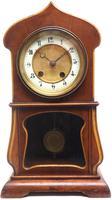 Fantastic Art Nouveau Mantle Clock Tulip Floral Inlay 8 Day Mantle Clock (8 of 10)