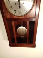 Arts & Crafts Period Mahogany Wall Clock (3 of 6)