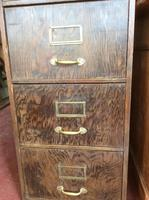 Antique Wooden Filing Cabinet (2 of 9)