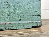 Antique Green Painted Wooden Trunk or Box (7 of 10)
