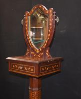 Antique Dutch Marquetry Vanity Hat Stand - Mirror (4 of 19)