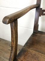 19th Century Welsh Oak Ball & Rail Back Chair (5 of 9)