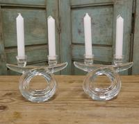 Pair of Art Deco Twin Crystal Candlesticks (3 of 5)