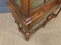 Burr Walnut Double Dome Topped Display Cabinet (17 of 18)