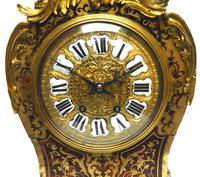 Rare Large Antique French Boulle Mantel Clock Ormolu Inlay 8 Day Mantle Clock (7 of 16)