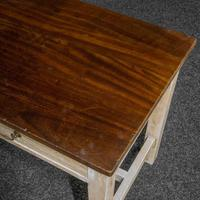 Country Style Three Drawer Dining Table (6 of 10)