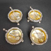 Set of Four Victorian Silver Salts (2 of 5)