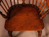 A Set of 4 Yew Tree Windsor Chairs Rockley Workshop (19 of 21)