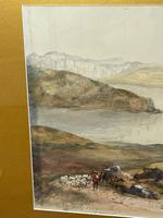 19th Century Scottish Highlands Watercolour Loch Kishorn By William Leighton Leitch (16 of 36)