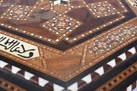 Damascan Side Table Octagonal Arabic Interiors Inlay (6 of 10)