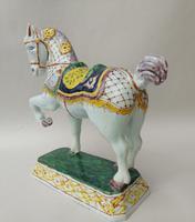 Rare Mid 19th Century Dutch Delft Ceremonial Horse (6 of 8)