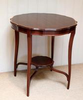 Inlaid Mahogany Circular Table (12 of 12)