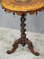 Marquetry Inlaid Walnut Wine Table (7 of 10)