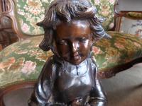 A Victorian Heavy Bronze Girl with Goose (8 of 10)
