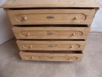 Victorian Antique Pine Chest of Drawers / Baby Changing Station to wax / paint (11 of 12)