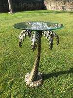 Bronze Glass Top Palm Tree Table (5 of 6)