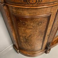 English burr walnut Credenza with Carrara marble top (2 of 10)