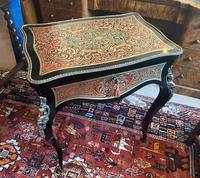 Victorian French Boulle Sewing / Writing Table