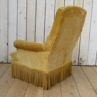 Antique French Tub Armchair for re-upholstery (3 of 8)