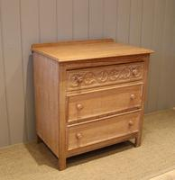 Small Limed Oak Chest of Drawers (6 of 10)