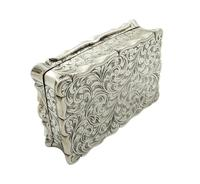Antique Victorian Sterling Silver Snuff Box 1852 (9 of 11)