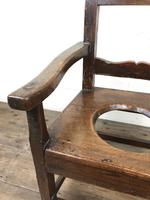 Antique Stained Pine Child's Potty Chair (5 of 12)