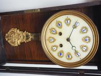 Rare Early Wall Clock Large Dial Rosewood 8 Day Striking Vienna Wall Clock (7 of 10)