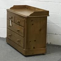 Late Victorian Pine Chest of Drawers (3 of 6)