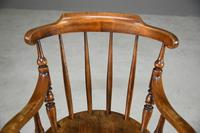 Antique Beech Spindle Back Penny Carver Chair (5 of 11)