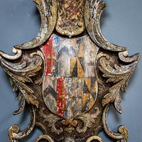 18th Century Painted Cartouche (6 of 9)