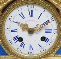 Antique 8 Day Ormolu Mantel Clock Sevres Mother & Child French Mantle Clock (5 of 16)