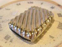 Antique Vesta Case 1890s Victorian The Beacon Chunky Silver Chrome Case (10 of 10)
