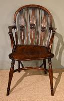 19th Century Yew Wood Windsor Armchair (4 of 6)