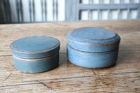 Swedish 'Folk Art' original blue painted wooden storage box / jar 19th Century (14 of 15)