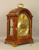 Fine Mahogany Verge Triple Pad Top Bracket Clock - Martineau, London (13 of 13)