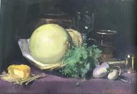 George Bruce Oil Painting ' Still Life of Objects on a Table' (2 of 2)