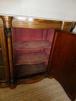 19thc Burr Walnut Credenza Cabinet (4 of 10)